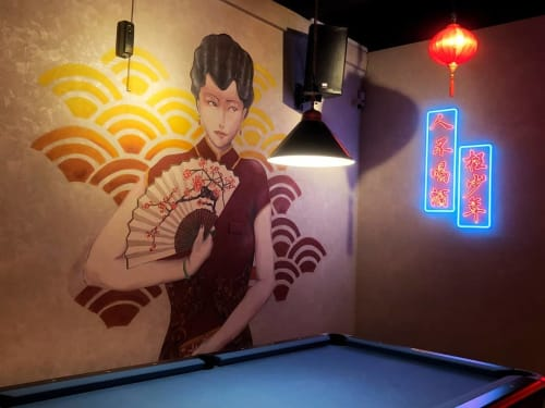Murals by TWO ART 贰·畫咖 seen at Basement Bar, Johor Bahru - Basement Bar Mural