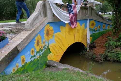 Murals by Keith Doles seen at Willowbranch Park, Jacksonville - Serenity