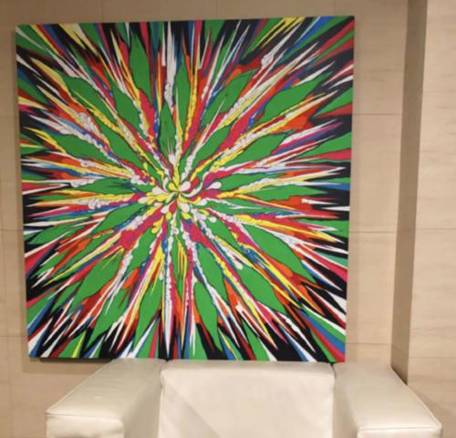 Paintings by Touko Mizuki seen at Private Residence, Yokohama - Laila