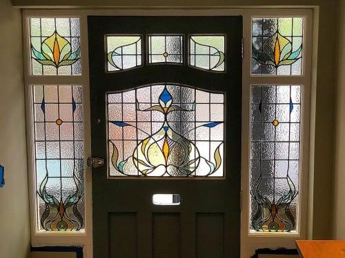 Art & Wall Decor by Annahita Hessami seen at Private Residence, London - Bespoke Front Door Set