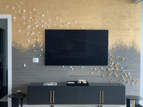 Wall Hangings by Purely Porcelain seen at Private Residence, Dallas - Golden Glow