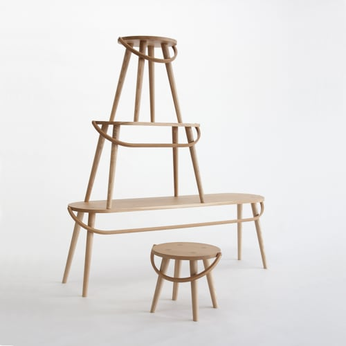 Chairs by Yvonne Mouser seen at Industrious Life, San Francisco - Bucket Stool Collection