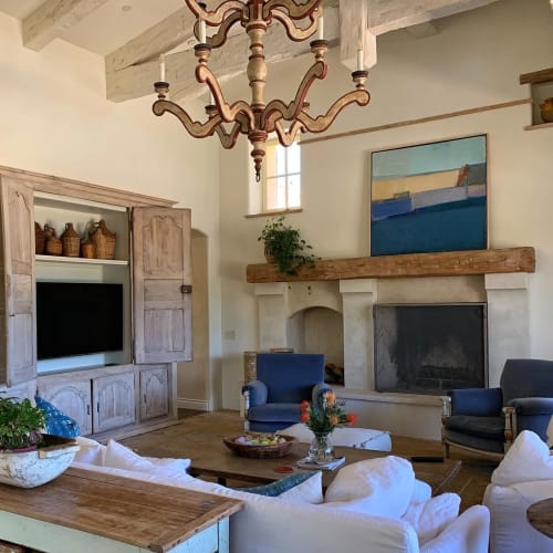 Paintings by Sandy Ostrau seen at Private Residence, Rancho Santa Fe - Deep Lagoon
