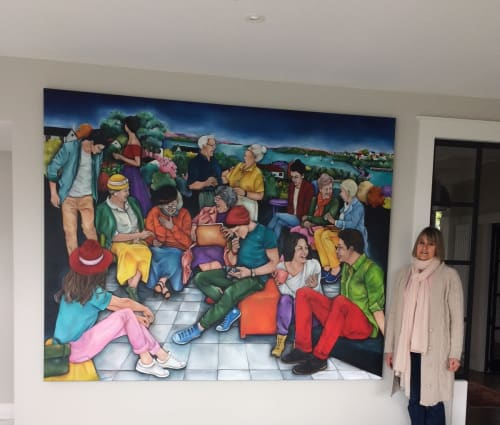 Paintings by Lauryne Hart seen at Private Residence, Auckland - Shared Moments