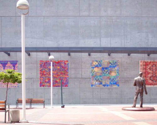 Public Mosaics by Wowhaus seen at Jack London Square, Oakland - Oakland Fusion