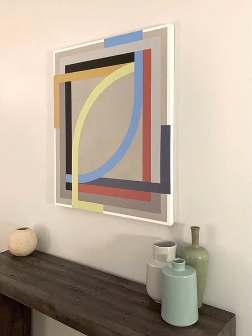 Paintings by Christian Nguyen seen at Private Residence, Brooklyn - Hanging Gardens 2020