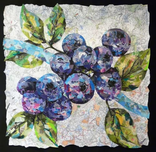 Paintings by Eileen Downes seen at Owensboro Health Healthpark, Owensboro - Blueberries