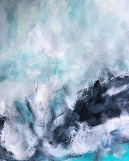 Paintings by Melanie Biehle seen at Private Residence, Seattle - Wave Form