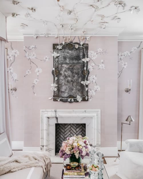 Art & Wall Decor by Caroline Lizarraga seen at Private Residence, San Francisco - Painted Fireplace
