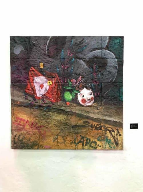 """Paintings by Skore999 seen at Bogota, Bogotá - """"Sábado nuestro"""""""
