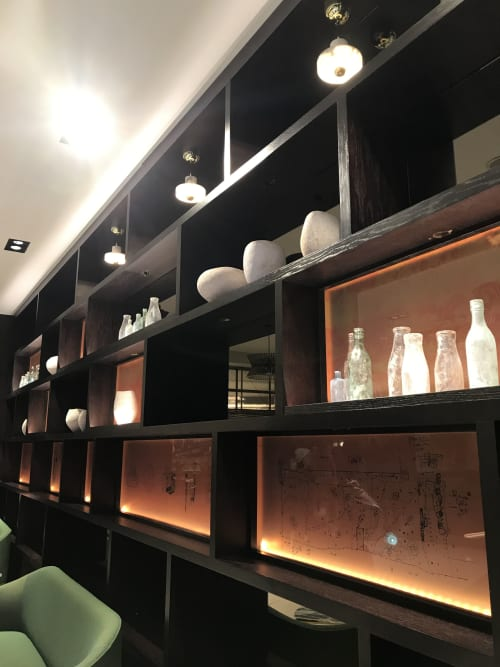 Sculptures by Yasha Butler at Radisson Blu Royal Hotel, Dublin, Dublin 8 - Installation of 11 Pergamon Vessels - The Lithic Collection