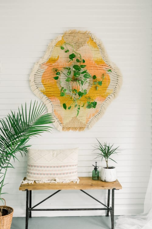 Macrame Wall Hanging by Demi Macrame & Designs seen at Creator's Studio, Houston - The Achieving Peacemaker - Macrame Wall Hanging and Planter