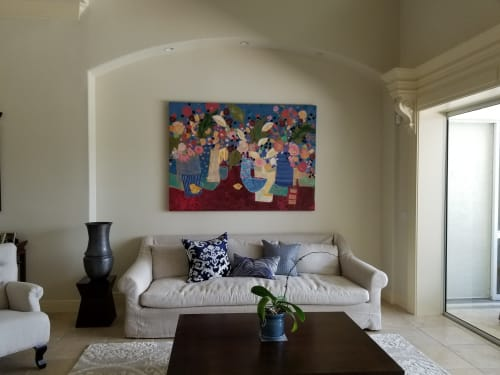 Murals by Jill Krasner Studios,LLC seen at Private Residence, Sarasota - Floral Collection