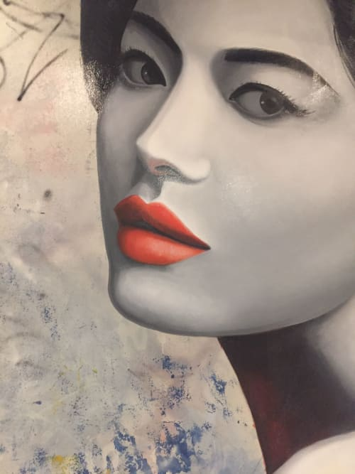 Murals by Nicolette Atelier seen at 2121 N Westmoreland St, Arlington - Yume Sushi