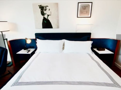 Paintings by Cindy Press seen at Thompson Hotels, New York - Art Install In Hotel Room