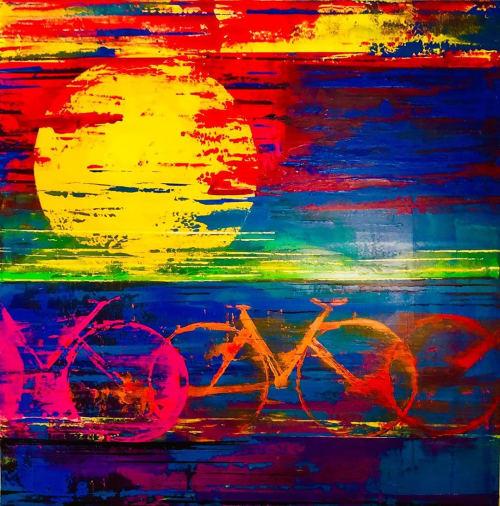 Paintings by Ben Bonart seen at Ben Bonart Art & Design LLC, Nyack - Born to Ride