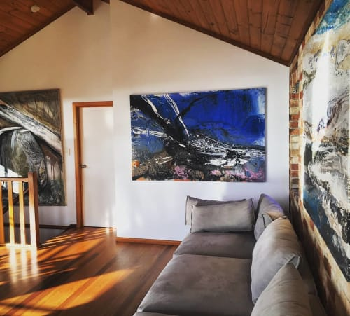 Paintings by William Holt seen at Private Residence, Iluka - Outback Series