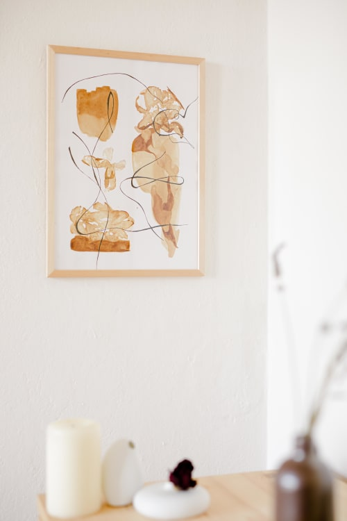 Paintings by Yasuna Iman seen at Creator's Studio, Berlin - Chewing on Mellow Apples
