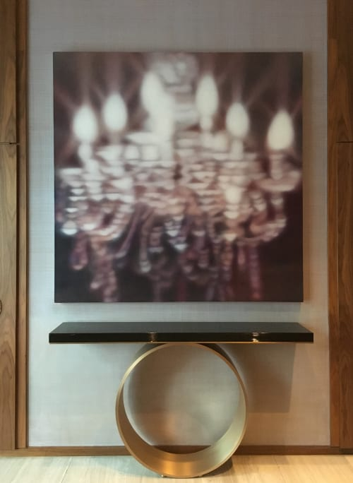 "Paintings by Laura Wood seen at Four Seasons Hotel Toronto, Toronto - ""Warm Light"""