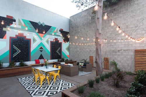 Murals by Madeleine Tonzi seen at Private Residence, Oakland - Private Residence Mural