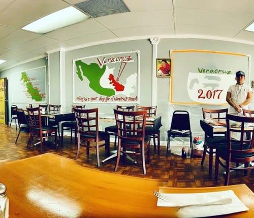 "Murals by AstahCustoms seen at Mi Ranchito Veracruz, Los Angeles - La Oya Tamalera ""making tamales the hard way"" @miranchitoveracruz"