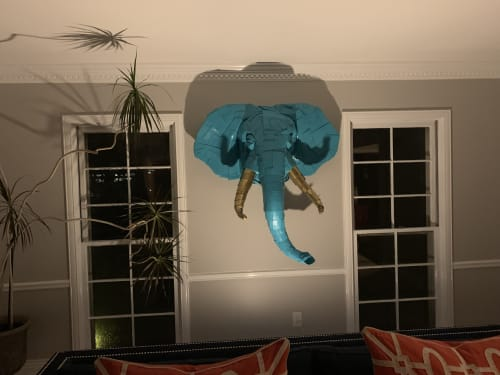 Sculptures by Justin King seen at Private Residence, Creve Coeur - Elephant number 1