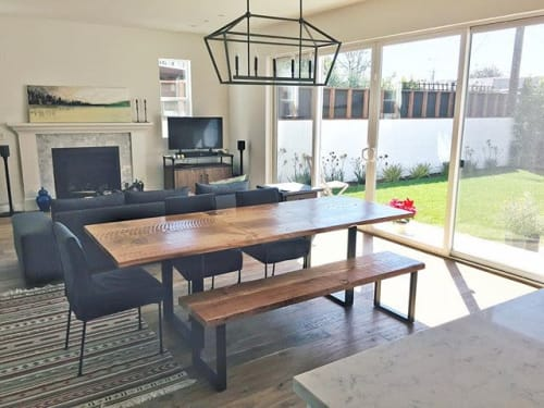 Tables by Parkman Woodworks seen at Private Residence, Los Angeles - Custom Expanding Table