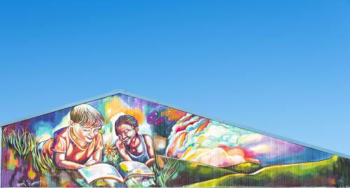 Murals by Brook Ramsey's Art seen at Smart Pope Livingston Elementary, Jacksonville - Hope Grows