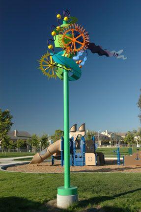 Public Sculptures by Nancy Mooslin seen at Thille Park, Ventura - Making Lemonade