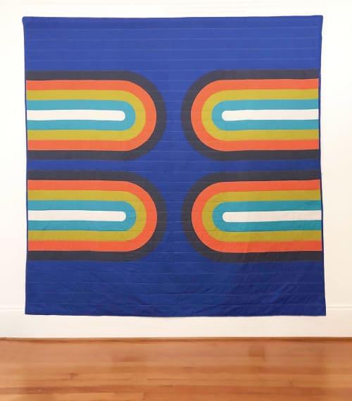 Linens & Bedding by Studio Prismatic seen at Creator's Studio, Portland - Rainbow Days Quilt in 100% Organic Cotton