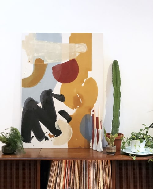 Paintings by Christine Cover seen at Private Residence, Washington - Untitled in Primary Colors