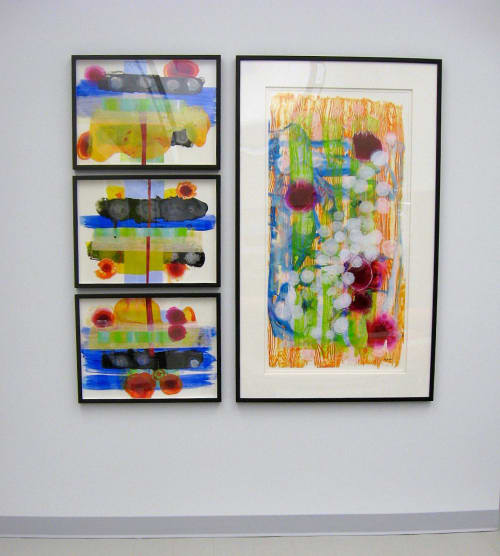 Paintings by Mary Zeran seen at Eastern Iowa Health Center, Cedar Rapids - Abstract Paintings