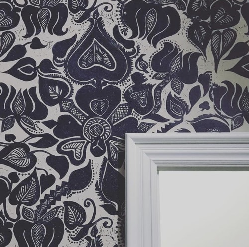Wallpaper by Paper Mills, Inc. seen at CLOTH & KIND, Ann Arbor - Shanti - Tout de Suite