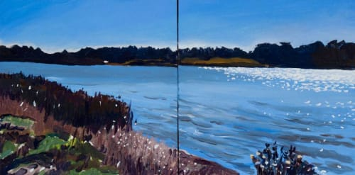 Paintings by June Yokell seen at Isabel Cook Community Center, San Anselmo - Marine Scapes