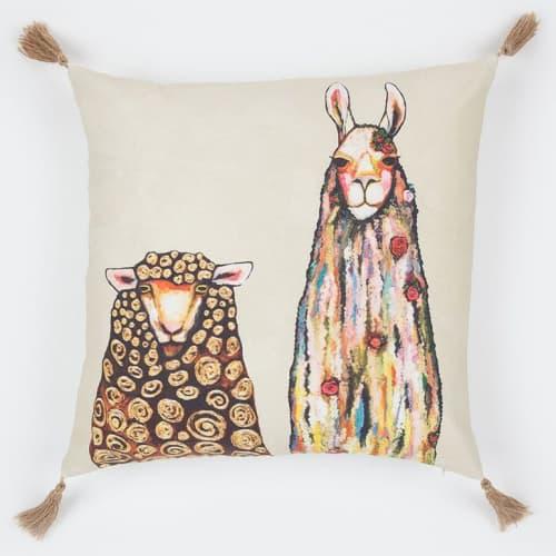 Pillows by GreenBox Art + Culture seen at Terra LaRock's Home - Llama Loves Sheep