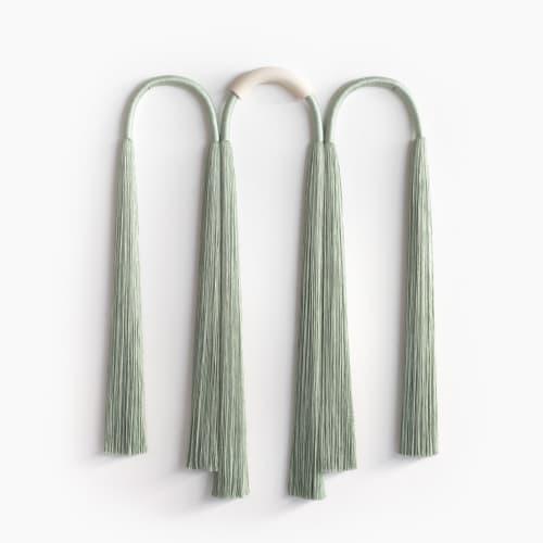Sculptures by Cindy Hsu Zell - Ceramic Wide Triple Arch Tassel (Sage)