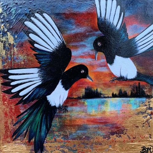 Paintings by Bobby-jo McGurk seen at Creator's Studio, Gloucester - Storytellers