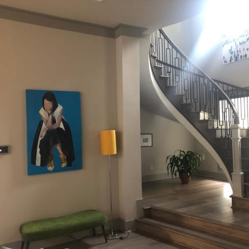 Paintings by Stephanie Vandem seen at Private Residence - Girl Painting