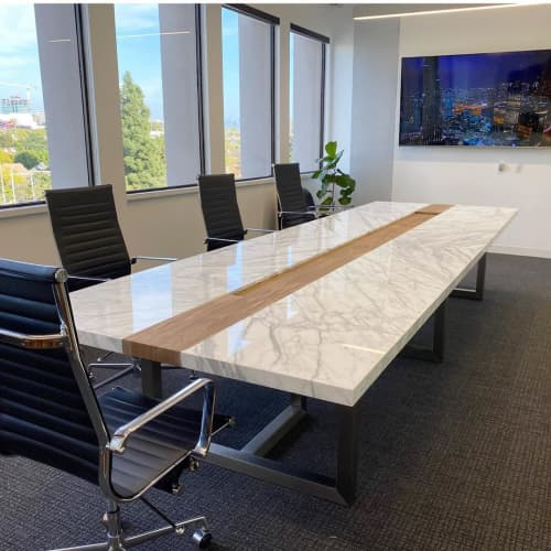 Marble Conference Table | Tables by Angel City Woodshop | The Accident Guys in Los Angeles