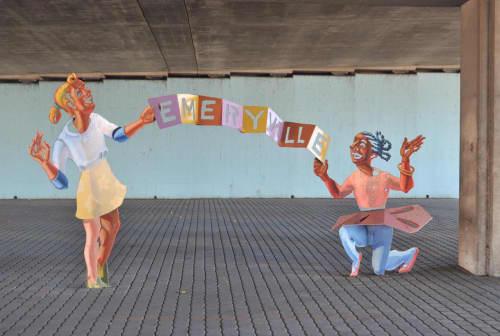 Neighborhood Convergence | Public Sculptures by M. Louise Stanley | Powell Street Underpass in Emeryville