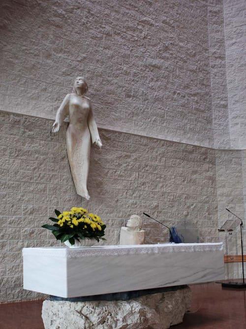 Public Sculptures by Filip Moroder Doss at San Biagio, Casalecchio di Reno - Maria