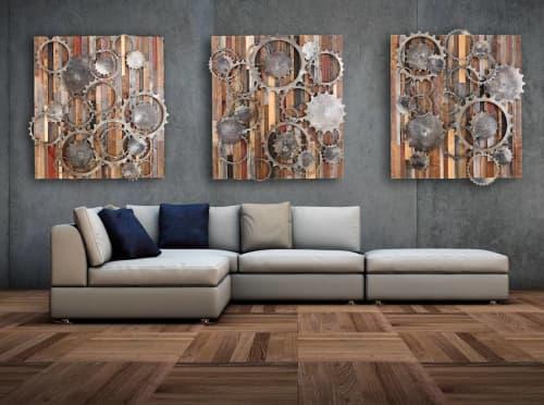 Metalgears Art Panels | Wall Hangings by Craig Forget | Nugget Casino Resort in Sparks
