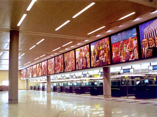 Walking New York   Murals by Deborah Masters   John F. Kennedy International Airport in New York