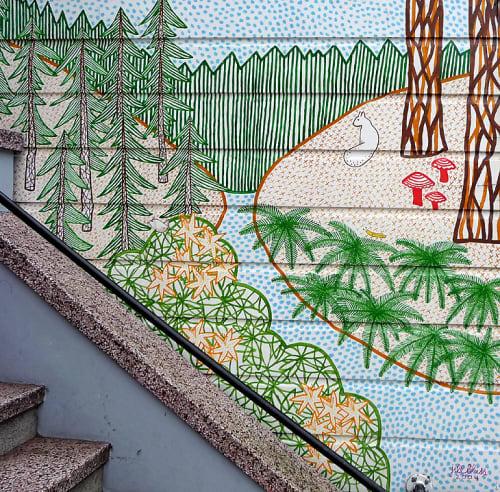 Street Murals by Jill Bliss seen at 629 Haight St, Western Addition, San Francisco, San Francisco - Mural