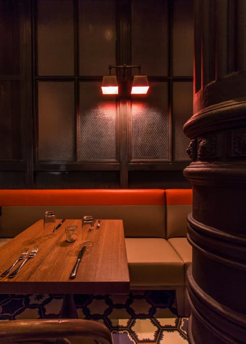Sconces by Focus Lighting seen at GATO, New York - Sconces