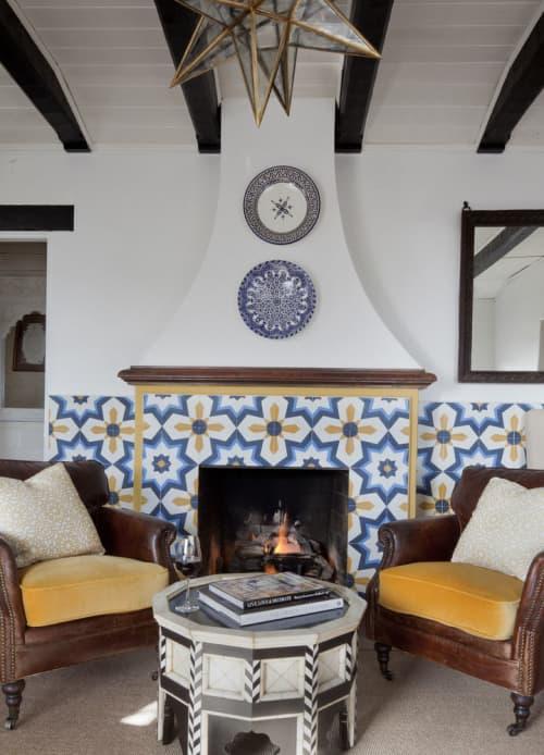 Tiles by Granada Tile seen at Casa Laguna, Laguna Beach - Estrella Cement Tiles