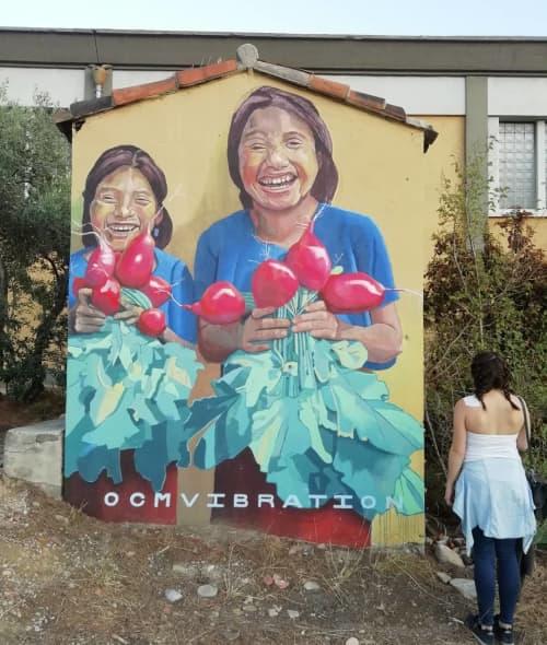 Murals by OCM Vibration at Atelier Juxtapoz, Marseille - La Recolte