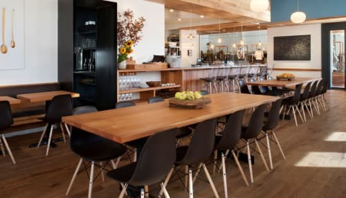 Tables by Sagan Piechota Architecture seen at Piccino, San Francisco - Custom Communal Tables