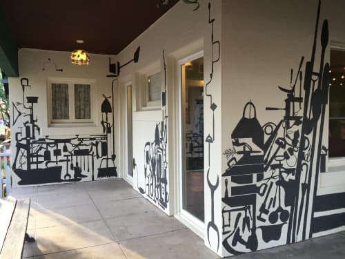 Street Murals by Carrie Marill seen at Roosevelt Growhouse, Phoenix - Tool Mural