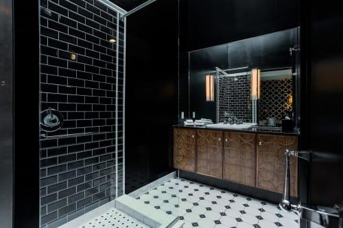 Bathroom Lights   Lighting by Lorenzo Castillo   Room Mate Grace Hotel in New York